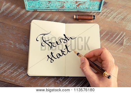 Motivational Concept With Handwritten Text Fresh Start