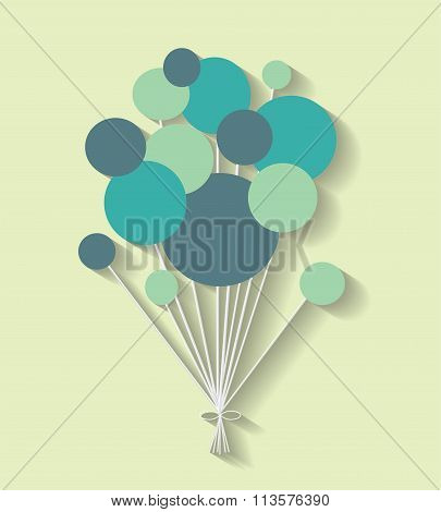 communication bubbles on the green background. Eps 10 vector file.