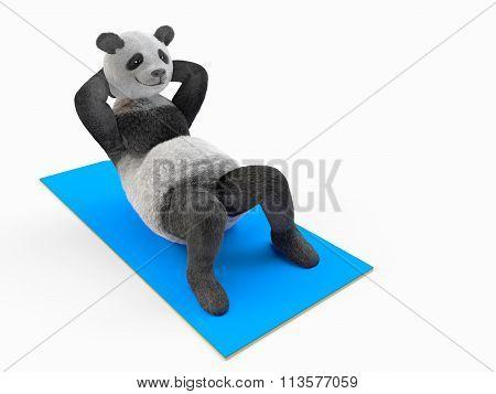 working abs trunk curls sports bending abdominal muscle improvement