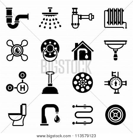 Vector Plumbing icon set