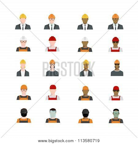 Set Of People Avatars Profession, Professional Human Occupation, Basic Characters Set, Employee Vari