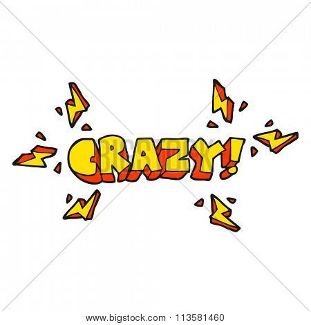 freehand drawn cartoon shout crazy
