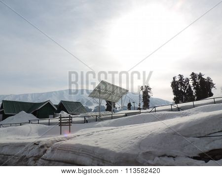 Solar energy generation in snow clad mountains