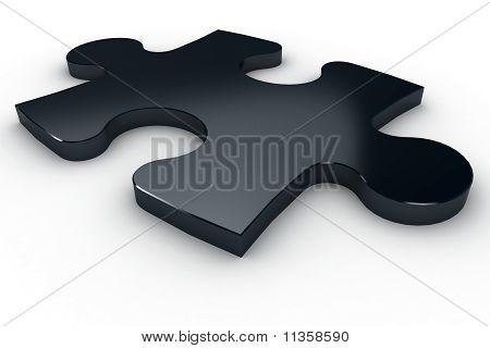 Peça metálica de quebra-cabeça 3D