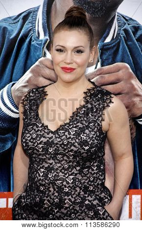 Alyssa Milano at the Los Angeles premiere of 'Get Hard' held at the TCL Chinese Theater IMAX in Hollywood, USA on March 25, 2015.