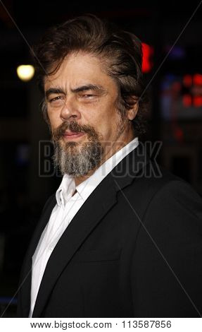 Benicio Del Toro at the Los Angeles premiere of