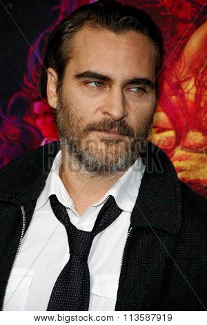 Joaquin Phoenix at the Los Angeles premiere of