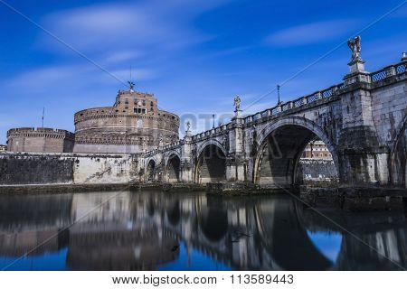 Castel Sant Angelo in Rome in Italy.
