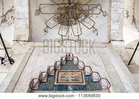 Mostar, Bosnia and Herzegovina - August 25, 2015: Koski Mehmed Pasha Mosque in Mostar