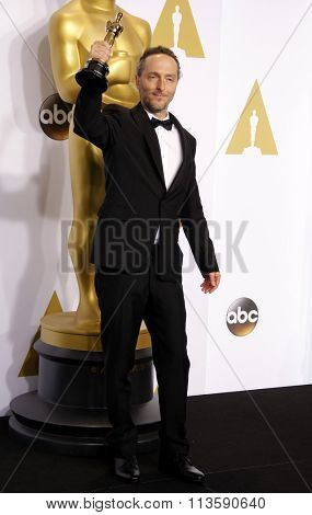 Emmanuel Lubezki at the 87th Annual Academy Awards - Press Room held at the Loews Hollywood Hotel in Los Angeles, USA February 22, 2015.