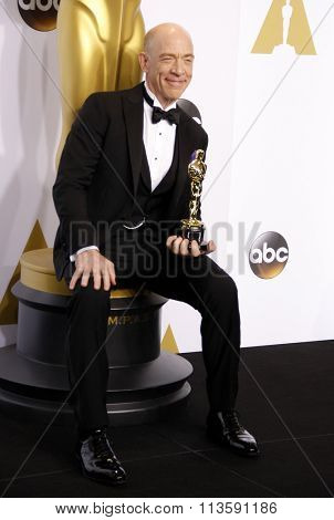 J.K. Simmons at the 87th Annual Academy Awards - Press Room held at the Loews Hollywood Hotel in Los Angeles, USA on February 22, 2015.