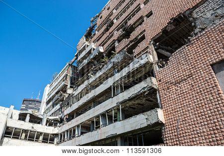Bombed Building In Belgrade