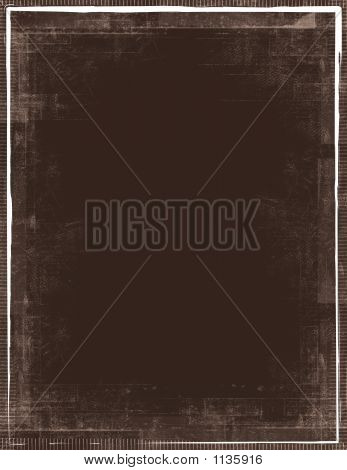 Brown Background With Grunge Frame
