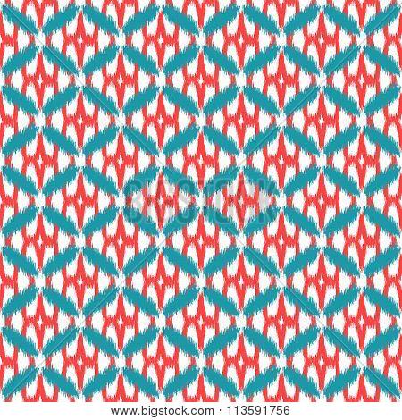 Ikat seamless vector pattern.