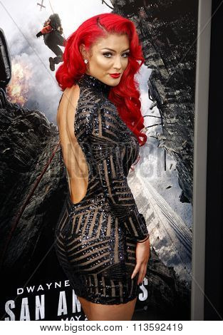 Eva Marie at the Los Angeles premiere of