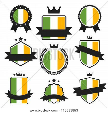 World Flags Series. Vector Flag of Ireland.