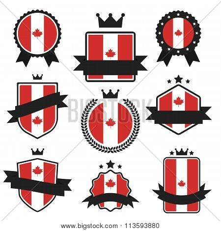 World Flags Series. Vector Flag of Canada.