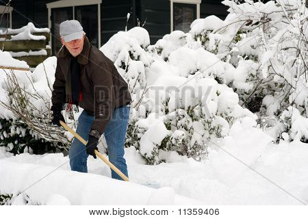 Man Is Removal Snow