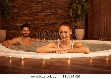 Enjoying Jacuzzi Together