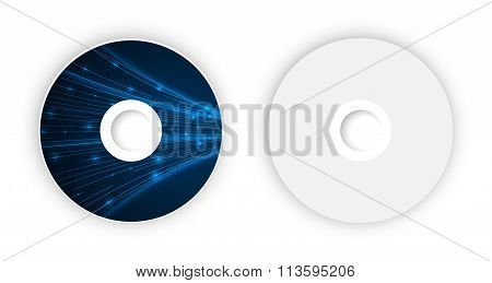 Vector CD template.