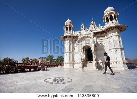 Tourist In Jaswant Tada In Jodhpur