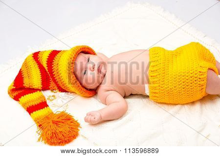 A Cute Newborn Little Baby Girl Sleeping. Use It For A Child, Parenting Or Love Concept.