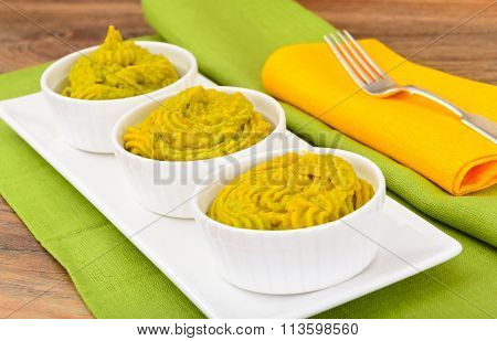 Puree Pate Broccoli, Pumpkin and Carrot.