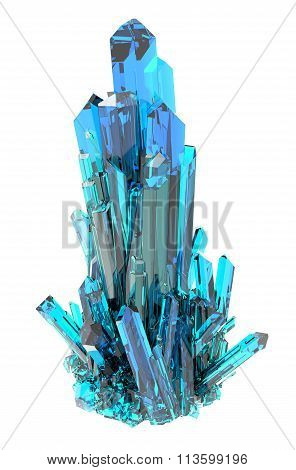 Crystal on a white background isolated