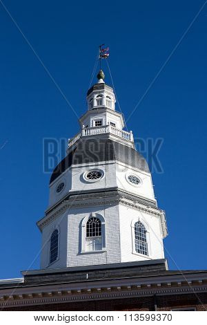 Maryland Capitol Dome Annapolis Maryland