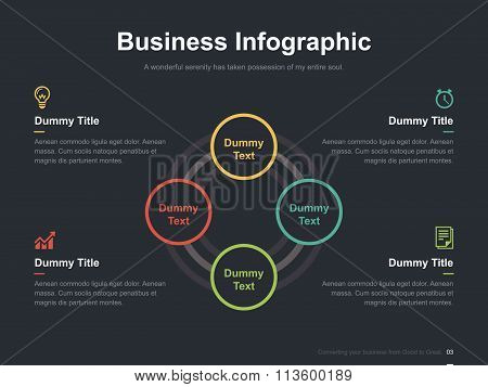 Business vector infographic slide template 0005