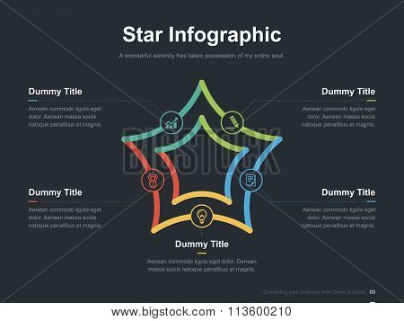 Business vector infographic slide template 0006