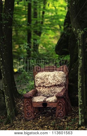 Empty Wooden Throne