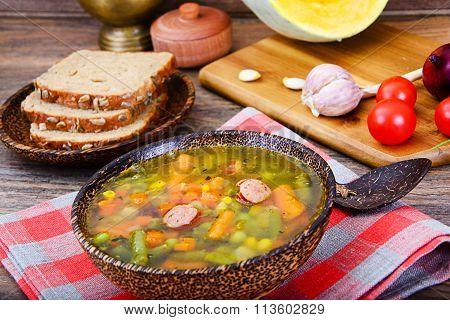 Vegetable Soup. Diet Fitness Nutrition