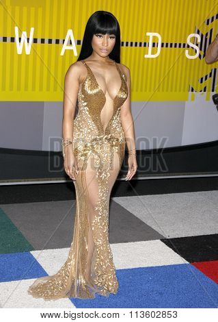 Nicki Minaj at the 2015 MTV Video Music Awards held at the Microsoft Theatre in Los Angeles, USA on August 30, 2015.