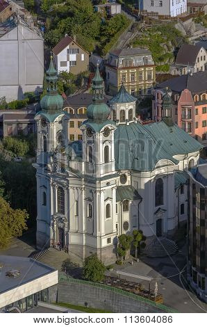 View Of Church Of St. Mary Magdalene,karlovy Vary