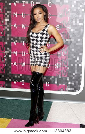 Tinashe at the 2015 MTV Video Music Awards held at the Microsoft Theatre in Los Angeles, USA on August 30, 2015.