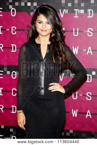 Selena Gomez at the 2015 MTV Video Music Awards held at the Microsoft Theatre in Los Angeles, USA on August 30, 2015.