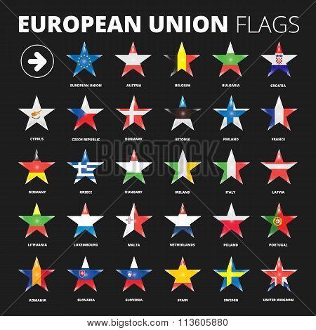 European Union flags