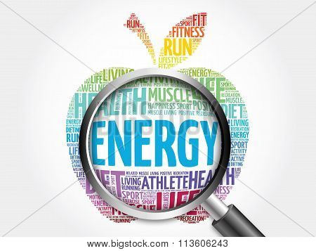 Energy apple word cloud