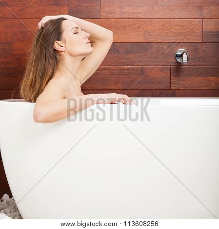 Wonderful Woman Taking Bath