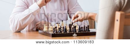 Man Is Playing Chess
