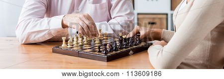 Playing Chess With Elder Patient