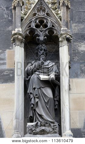 VIENNA, AUSTRIA - OCTOBER 10: Saint Matthew the Evangelist at St Stephans Cathedral in Vienna, Austria on October 10, 2014