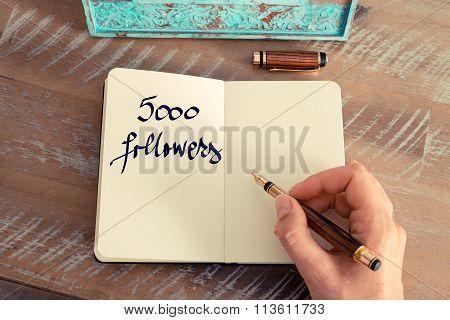 Motivational Concept With Handwritten Text 5000 Followers