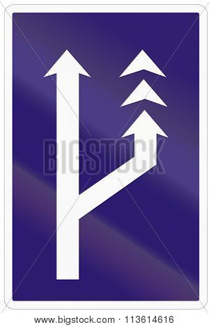 Road Sign Used In Slovakia - Slow Lane