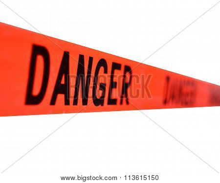 Red Danger Sign Tape