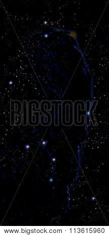 Nebula, Cosmic space and stars, black cosmic abstract background.