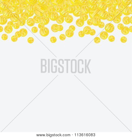 Golden Coins Continuous Horizontal Background