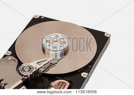 Close up inside of Hard drive