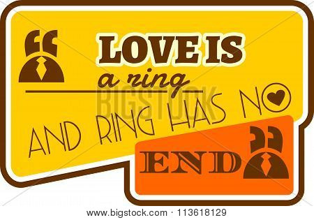 Love Is Ring And The Rings Has No End Quote